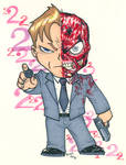 Chibi-Two-Face 2. by hedbonstudios