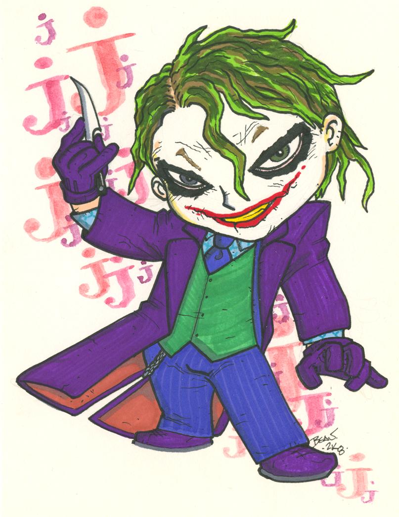 how to draw joker chibi