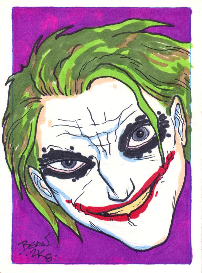 Joker Face ACEO. by hedbonstudios