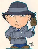 Chibi-Inspector Gadget. by hedbonstudios