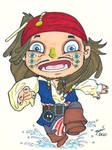 Chibi-Jack Sparrow 3. by hedbonstudios