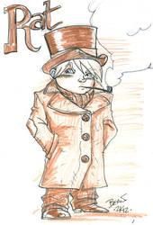 Seventh of London Sketch- Rat. by hedbonstudios