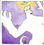 Hellboy Art Nouveau by hedbonstudios