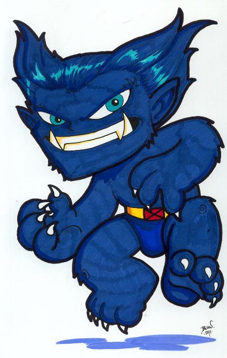 Chibi-Beast. by hedbonstudios on DeviantArt X Men Archangel Drawings