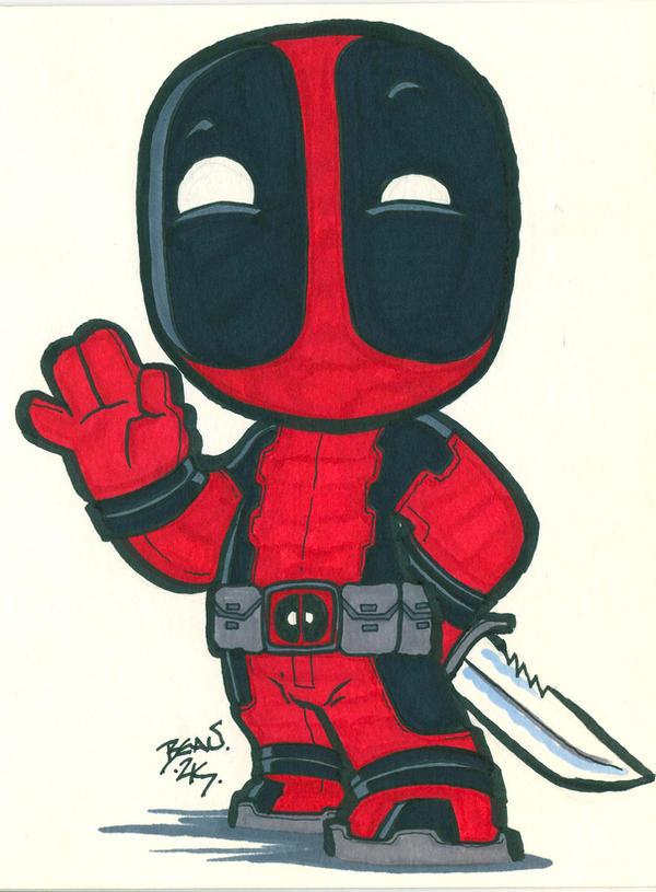 Chibi-Deadpool 4  by h...
