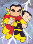 Chibi-Captain Marvel and...