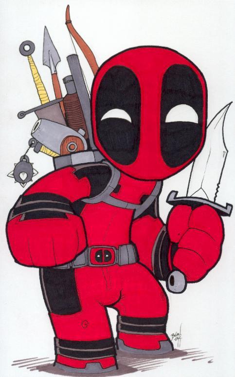 Chibi-Deadpool 2. By Hedbonstudios
