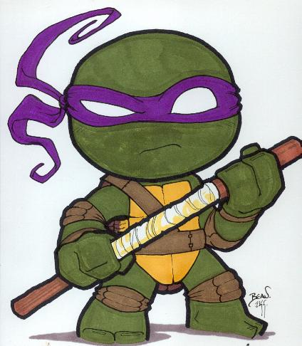 Chibi-Donatello. by hedbonstudios on DeviantArt