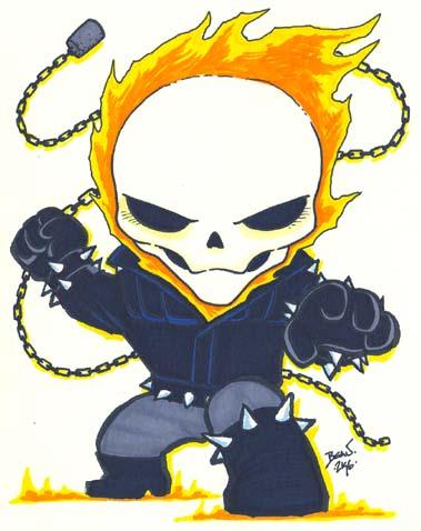Chibi-Ghost Rider 2. by hedbonstudios on DeviantArt