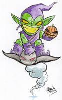 Chibi-Green Goblin. by hedbonstudios