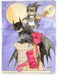 Chibi-Hellboy, Batman and...