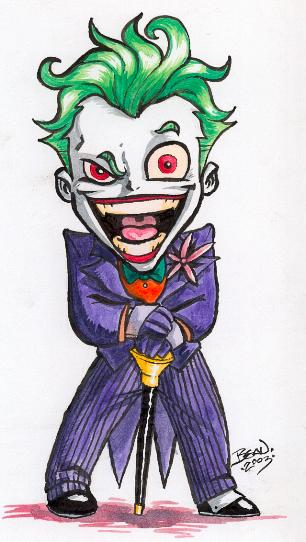 Joker Scribble Drawing : Chibi joker by hedbonstudios on deviantart