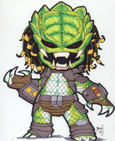 Chibi-Predator. by hedbonstudios