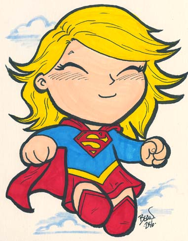 Chibi-Supergirl. by hedbonstudios on DeviantArt