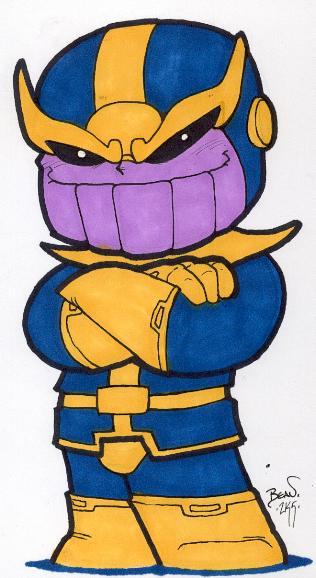 Chibi-Thanos 2. by hedbonstudios