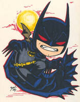 Chibi-Batman 8. by hedbonstudios