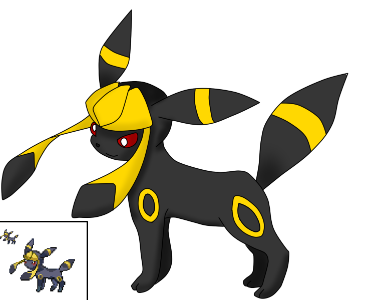 Pokemon fusion umbreon and glaceon by cherryboom000921 on deviantart - Noctali pokemon y ...