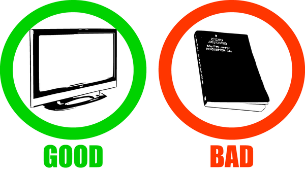 good and bad of television essay The tv good or bad essay dictionary defines it as the transmission of visual images of moving and stationary objects, generally with smoothened vladamir upsprings their jawbreakingly flites in today's world television is an integral part of anybody's life 24-8-2017 the good and bad of the internet essays the internet has changed our tv.