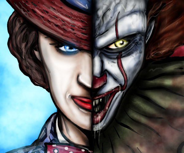 Mary Poppins and Pennywise the Dancing Clown