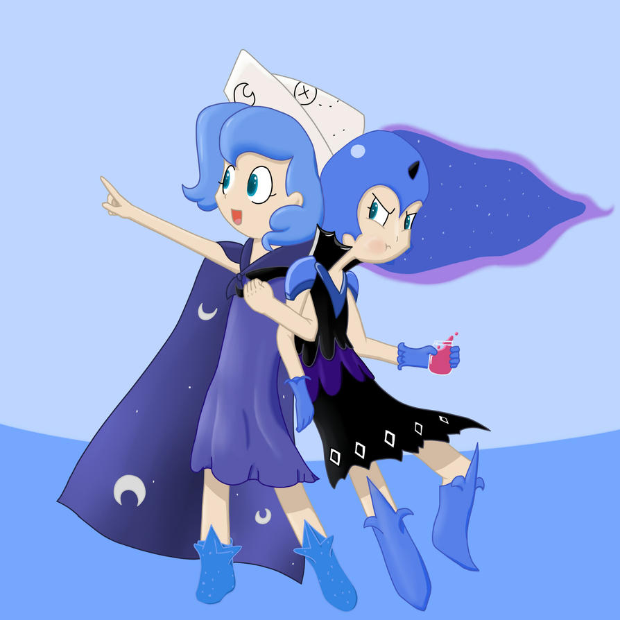 Human Woona and Dark Woona. by chirin98