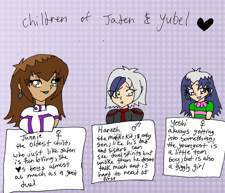children of Yubel and Jaden  by missjumpcity