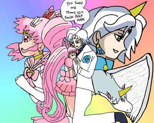 Sailor Petit moon preview art couple by missjumpcity
