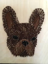 French bulldog String Art by BiotTechElf