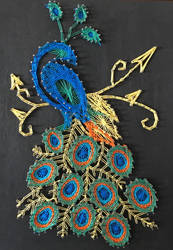 Peacock String Art by BiotTechElf