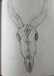 Elk Skull Design by BiotTechElf