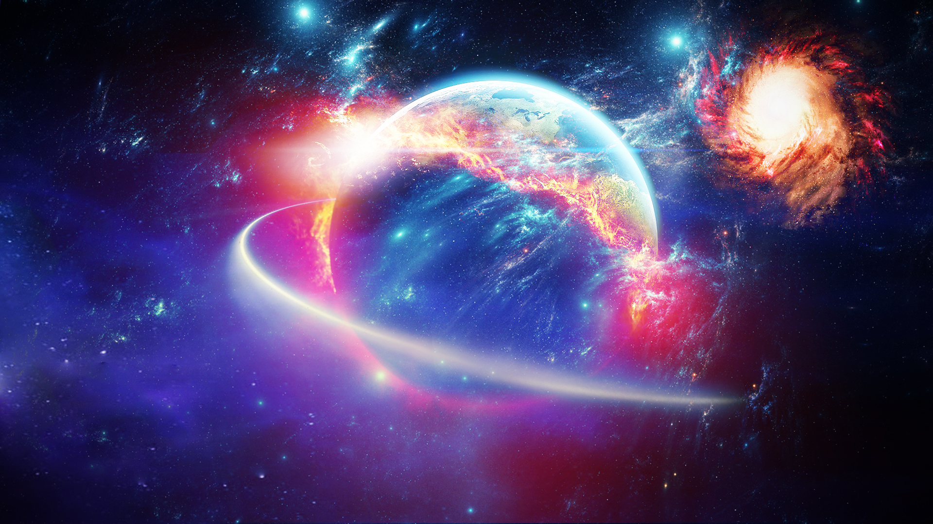 Galaxy Hd Wallpapers 1080p 75 Images: The End Of The Beginning (1080p Wallpaper) By Eddef On