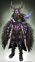 Malfurion Stormrage Warbear armor design. by ZFischerillustrator