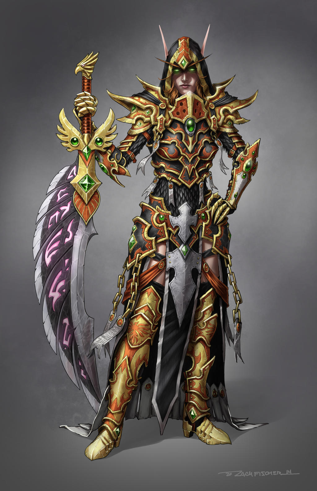 blood elf paladin in kael thas inspired judgement by