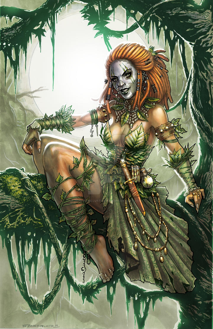 Voodoo Witch Doctor Poison Ivy by ZFischerillustrator on ... | 720 x 1111 jpeg 234kB
