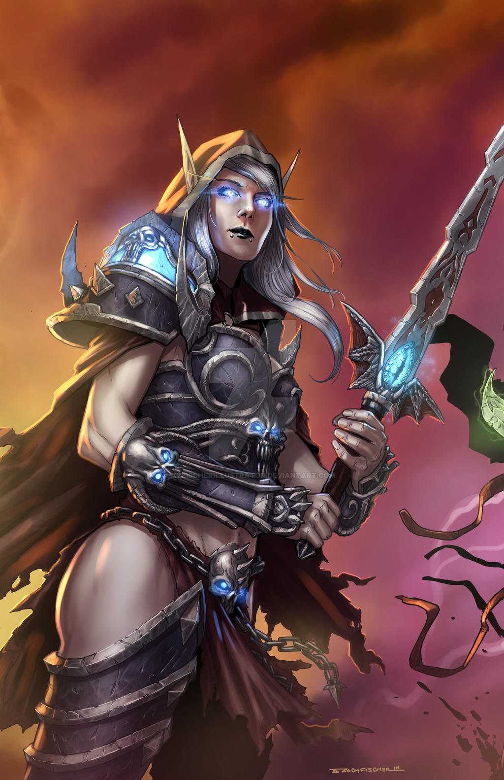 Blood elf death knight and human warrior  smut video