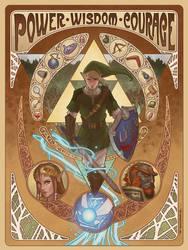 Art Nouveau Legend of Zelda tribute by ZFischerillustrator