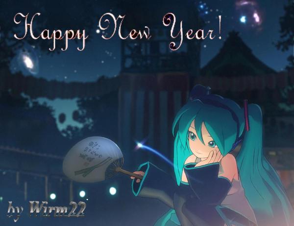 Resultado de imagem para miku happy new year