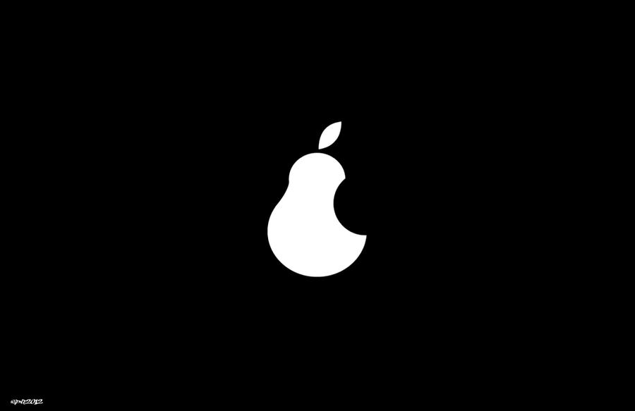 apple logo vector. pear - apple logo vector by elclon