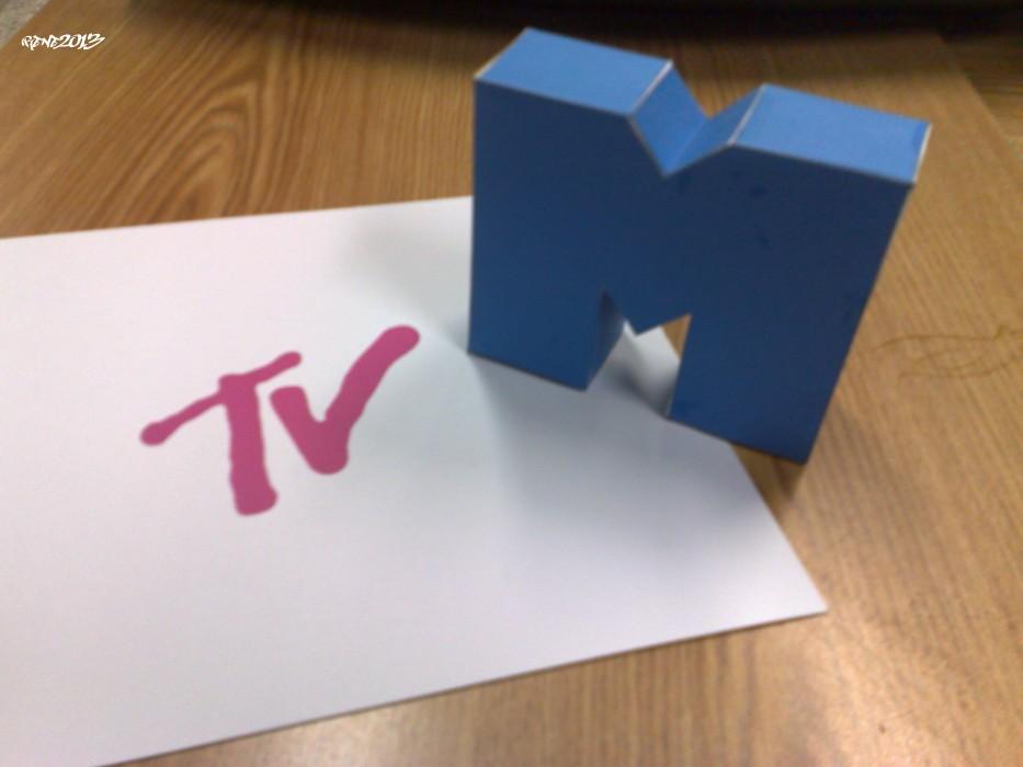 MTV - Papercraft Logo 3