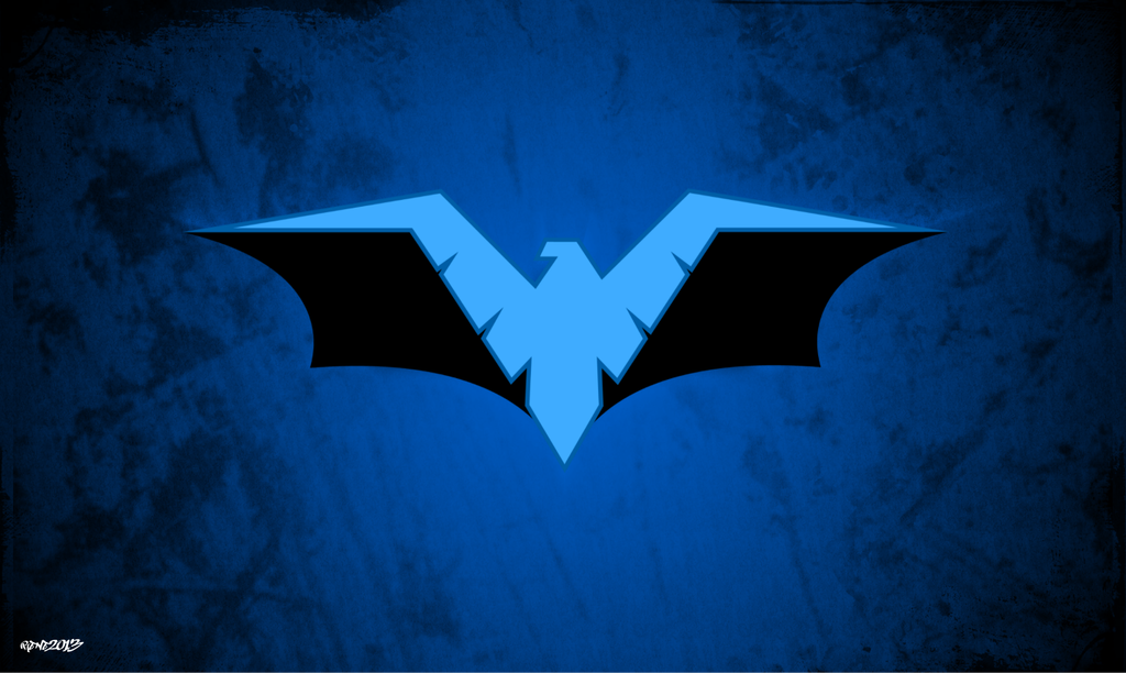 nightwing batman logo wallpaper by elclon on deviantart