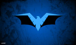 Nightwing - Batman Logo Wallpaper