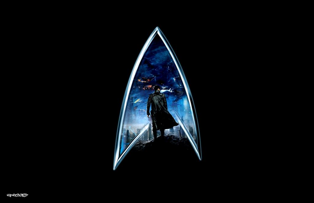 Star trek into darkness logo by elclon on deviantart - Star trek symbol wallpaper ...