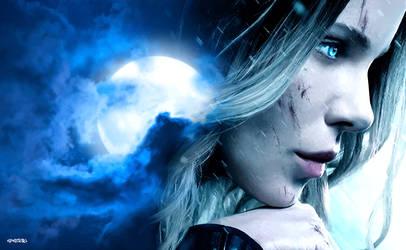 Underworld - Blood Wars :  Selene Moon Vector by elclon