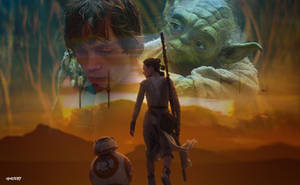 Star Wars: Episode VIII - The Last Jedi Wallpaper by elclon