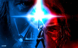 Star Wars: Episode VIII - The Last Jedi Blue Red by elclon