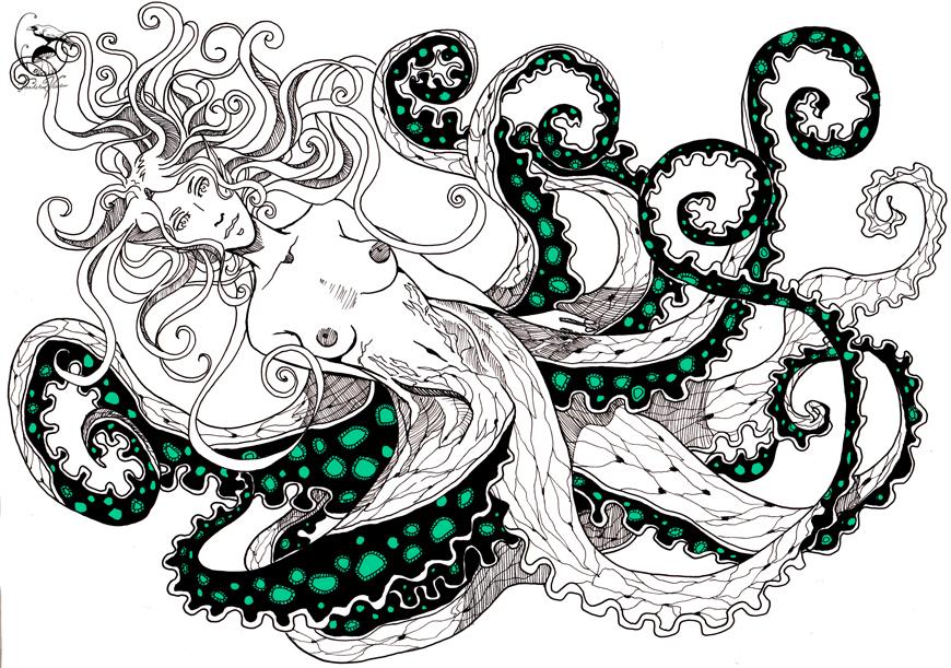 The Kraken by toadstoolvisitor