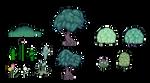 Pixel Plants (Aug 2013) by emimonserrate