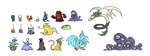 Pixel Monsters (Aug 2013) by emimonserrate