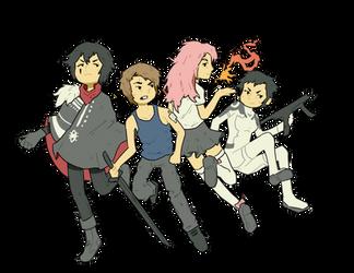 Shigatsu Virus Team (Dec 2014) by emimonserrate