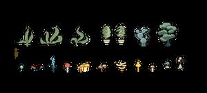 Pixel Plants (Dec 2013) by emimonserrate