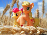Apple Jack and Apple Bloom by The-Nunnally